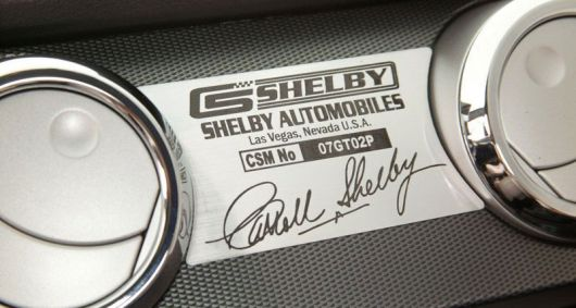 shelby plaque
