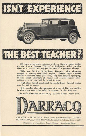 darracq six de luxe saloon 29