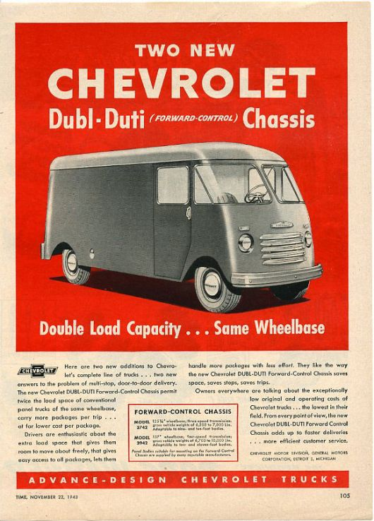 chevy dubl duty van 48