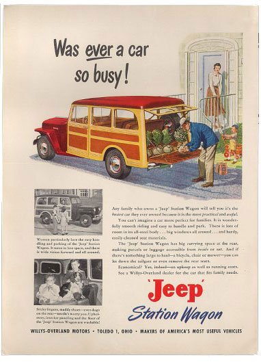 willys overland jeep station wagon 49