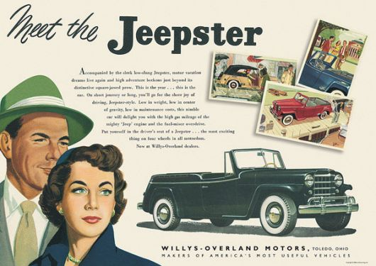 willys jeepster poster