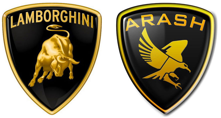 On the left is Lamborghini (from Italy), and on the right is Arash ...
