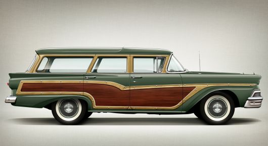 ford country squire wagon 58 sm