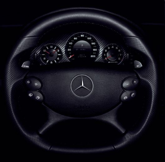 mercedes clk63 amg black series steering