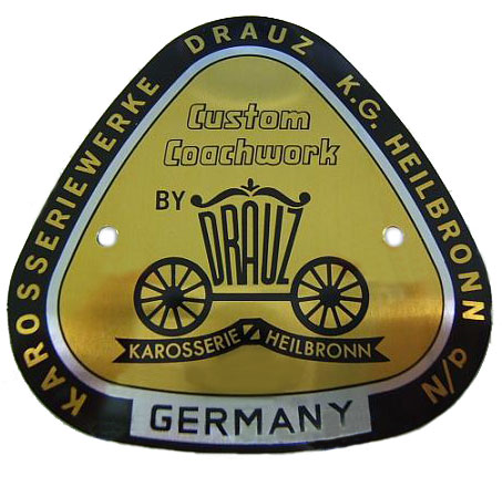 drauz conv d and roadster badge 1