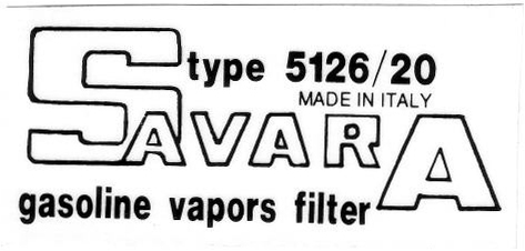 savara vapor canister sticker 80x38mm