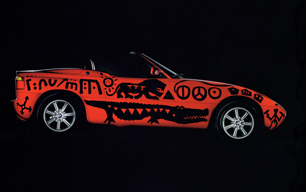 1991 BMW Z1 Art Car by A. R. Penck. (source: BMW)