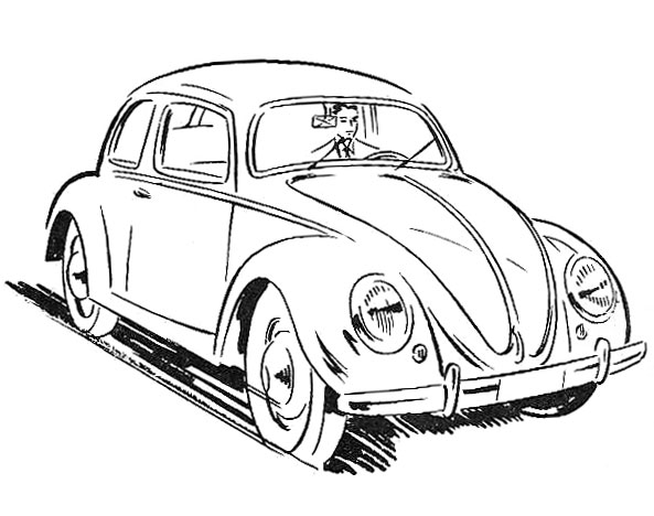 free coloring pages of a volkswagen beetle