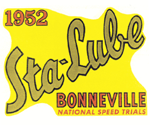sta lube bonneville nat speed trials decal 52