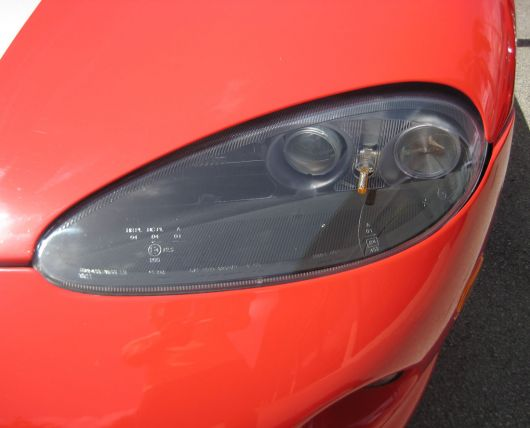 dodge viper gts coupe headlight 00
