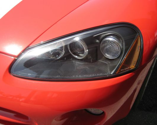 dodge viper srt10 coupe headlight 06