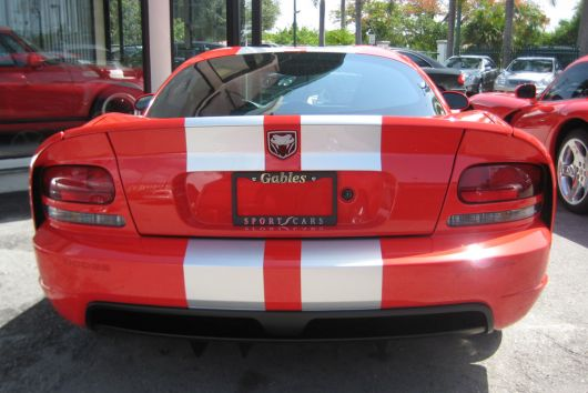 dodge viper srt10 coupe rear 06