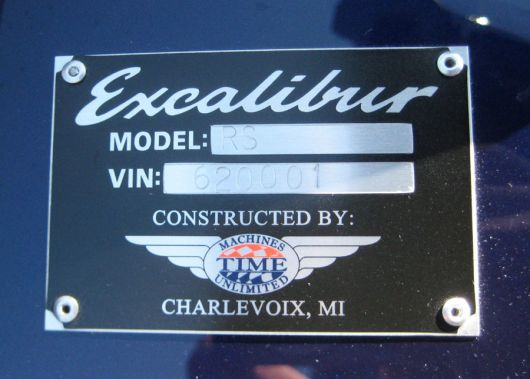excalibur plaque