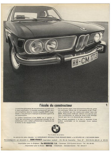 bmw 2800 sedan french 70