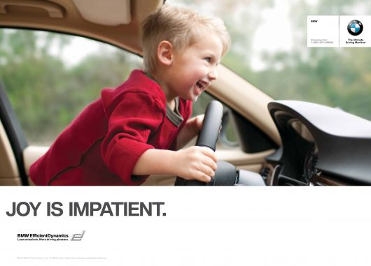 bmw joy is impatient ad