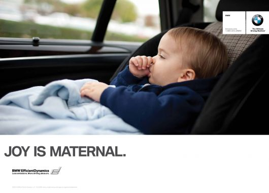 bmw joy is maternal ad