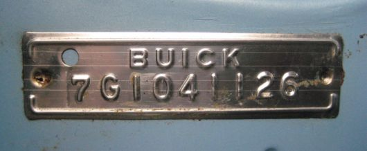 buick electra serial 60