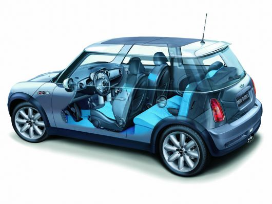 mini cooper s interior cut away 02