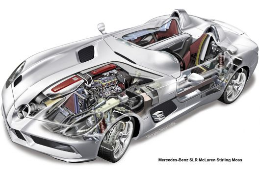 mercedes benz slr mclaren stirlin moss cut away 09
