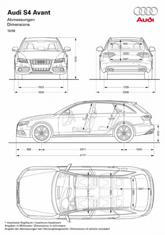 how to draw audi a4
