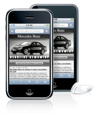 iphone mercedes benz headline newswire
