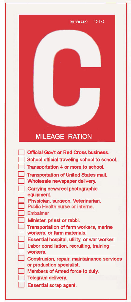 Gas ration c