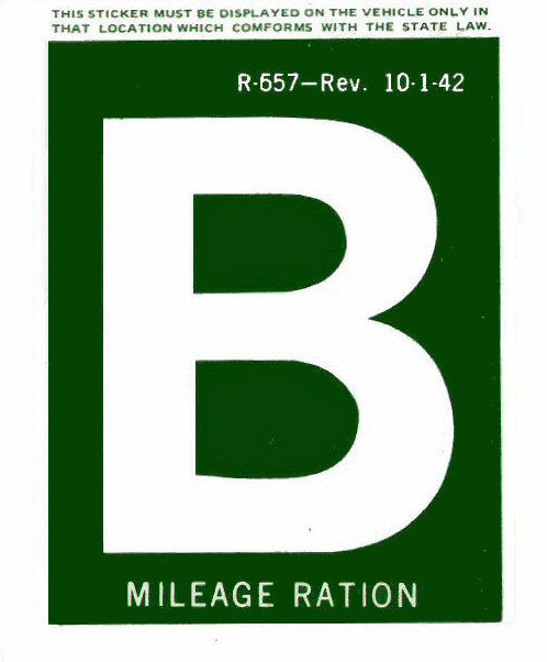 gas ration b