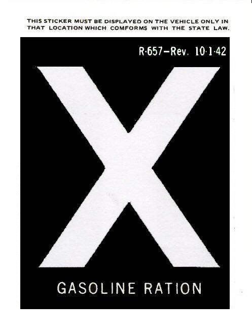 gas ration x