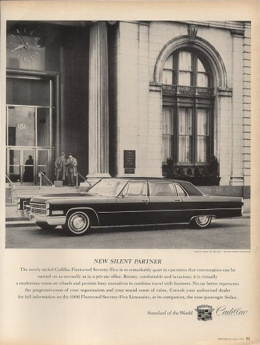 cadillac fleetwood seventy five 75 limo 66