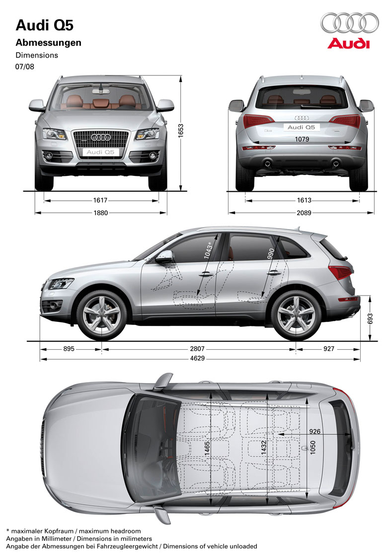 Worksheet. Audi Q5  2009  Cartype