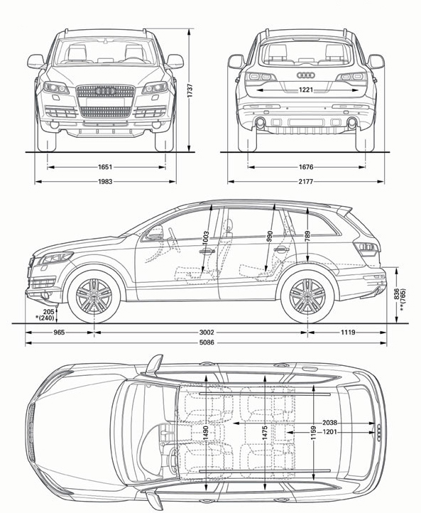 Worksheet. Audi Q7  2006  Cartype