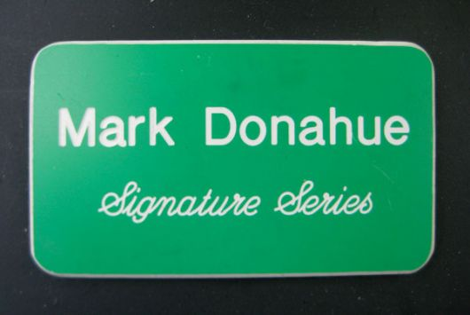 amc javelin sst 390 mark donahue plaque 70