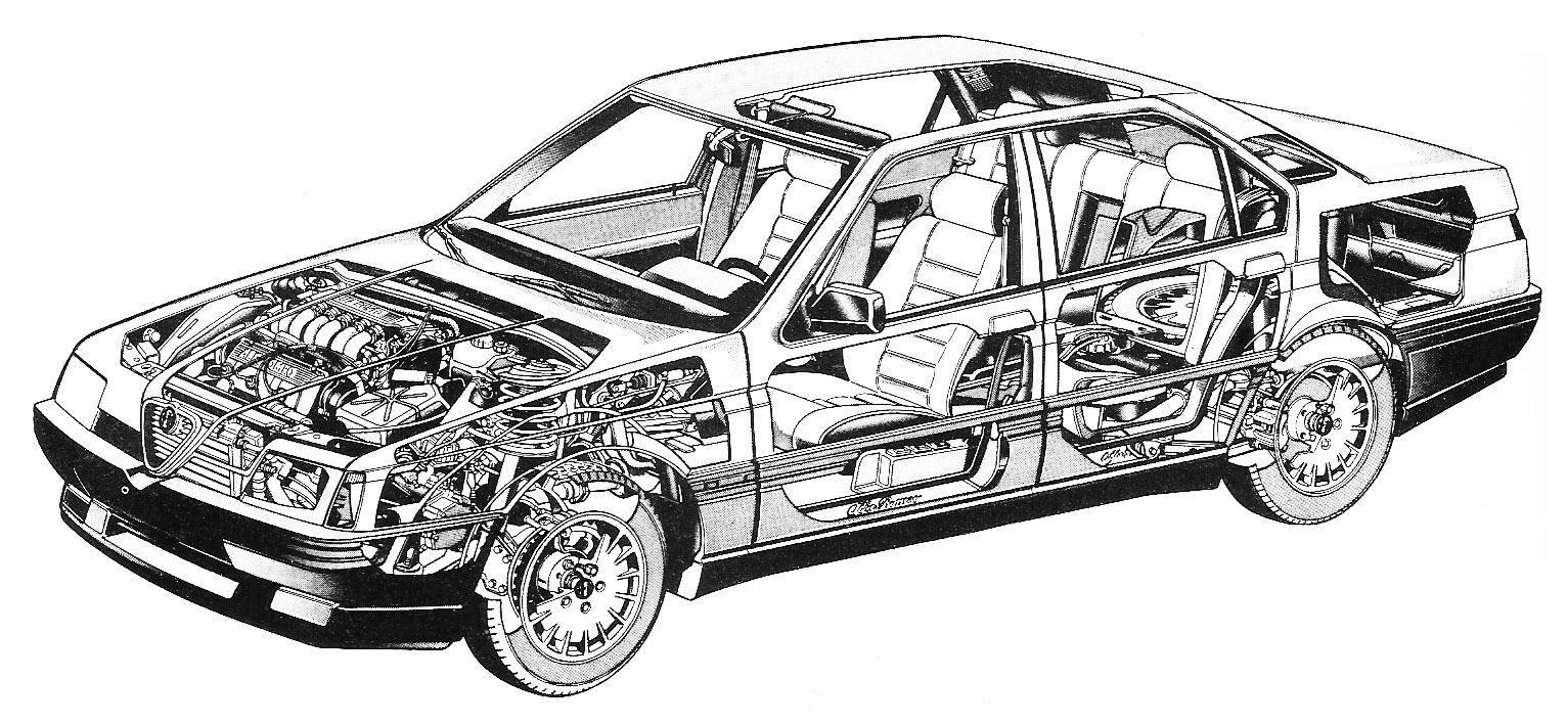 car drawings technical pictures