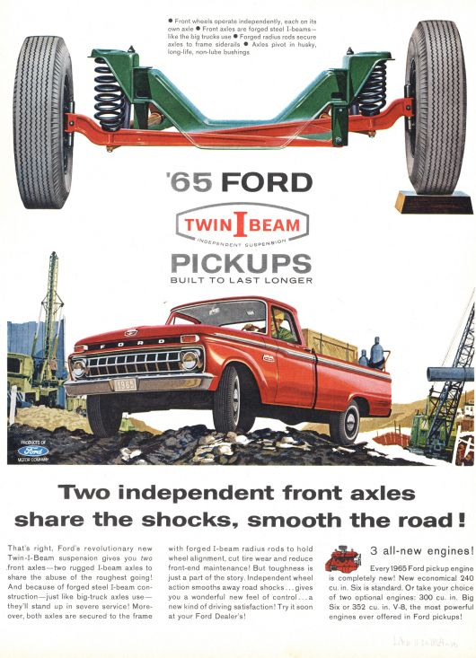 ford twin i beams independent suspension ad 65