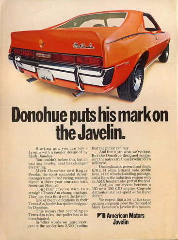 amc javelin mark donohue 70 a