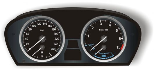 bmw activehybrid x6 10 cluster1