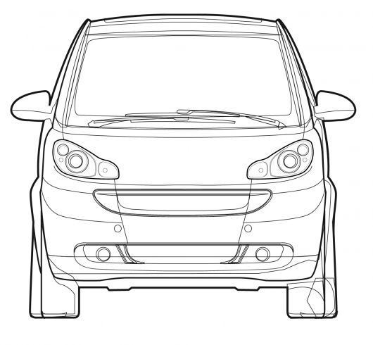 Car line art cartype 2010 smart fortwo coupe front source smart malvernweather Gallery