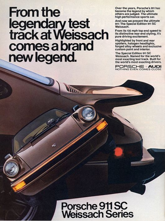 porsche 911 weissach edition ad 80