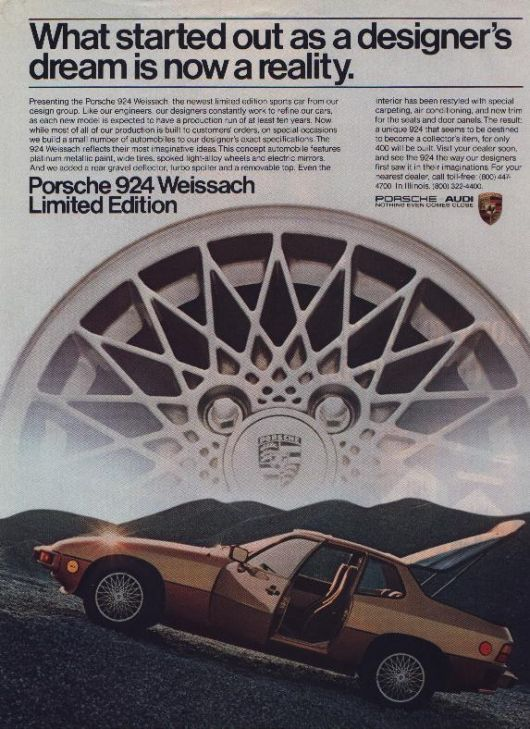 porsche 924 weissach edition ad 82