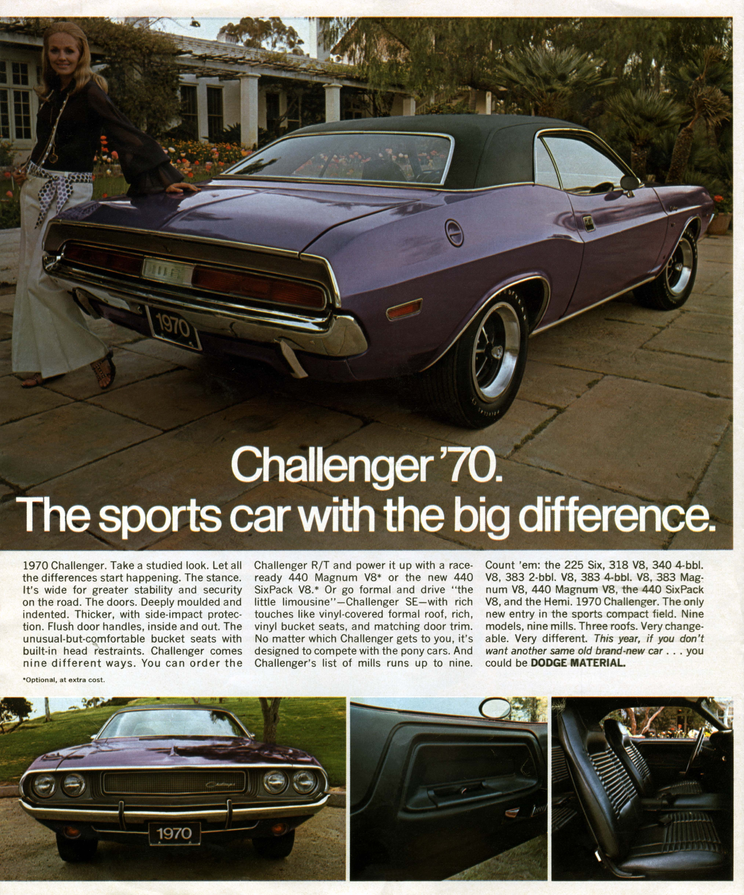 Dodge challenger ad a 70