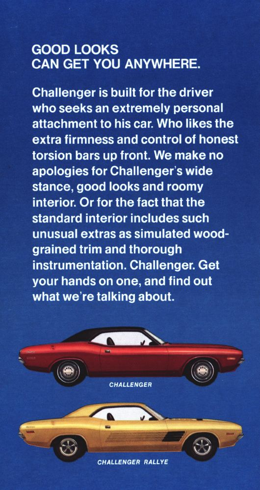 dodge challenger and challenger rallye ad 72