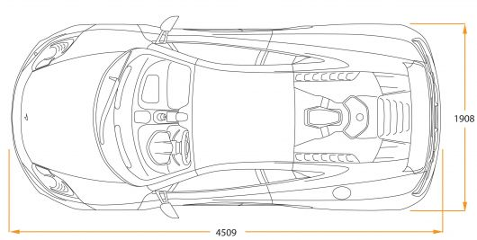 how to draw a car top view