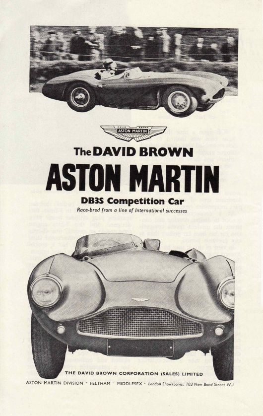 aston martin db3s competion car ad 55