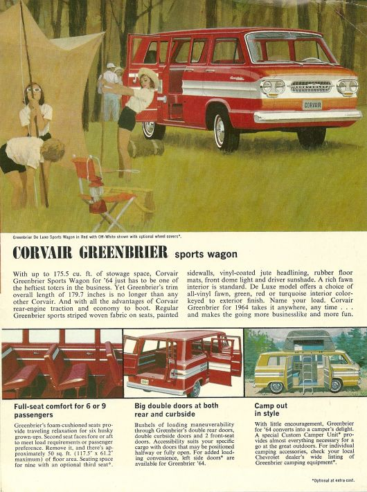 chevrolet corvair greenbrier sports wagon ad 64