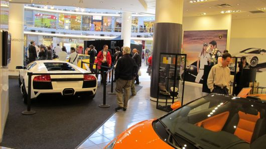 lamborghini boutique at the inauguration