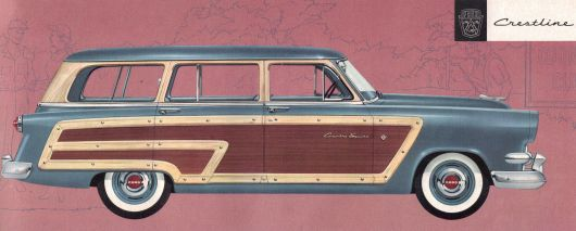 ford country squire wagon 54