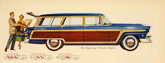 ford country squire wagon 55