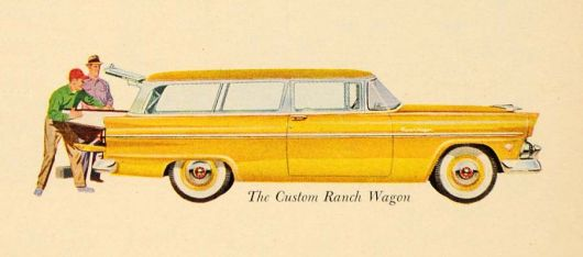 ford custom ranch wagon 55