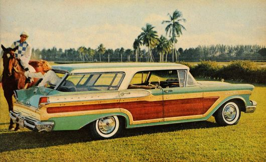 mercury colony park wagon green 57