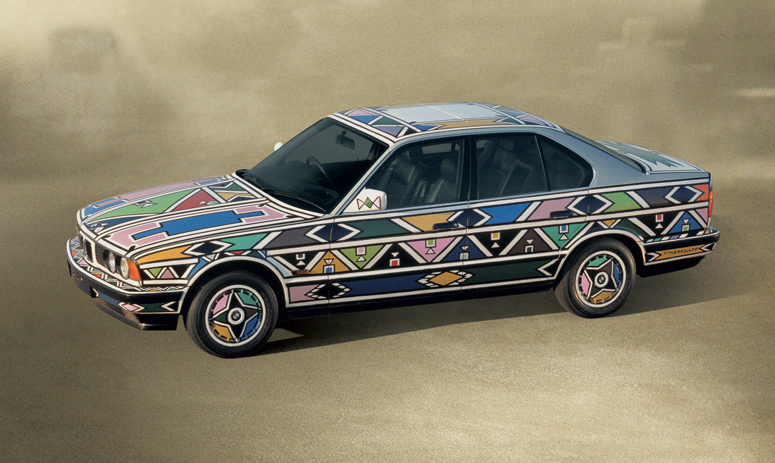 bmw art car by esther mahlangu cartype. Black Bedroom Furniture Sets. Home Design Ideas
